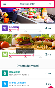Android & iOS collaborative delivery mobile application