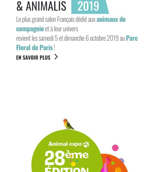 Accueil mobile boutique animalerie en ligne
