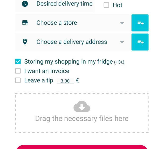 Déposer une course application mobile de livraison collaborative Android & iOS
